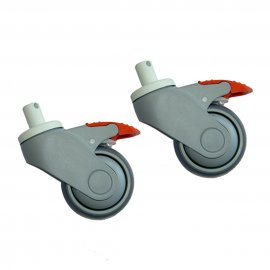 75 mm Lagoon Green Back Castors (Pair)