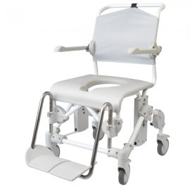 Etac Swift Mobile shower commode- assembled with pan holder