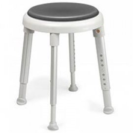 Etac Easy shower stool (grey) with swivel pad