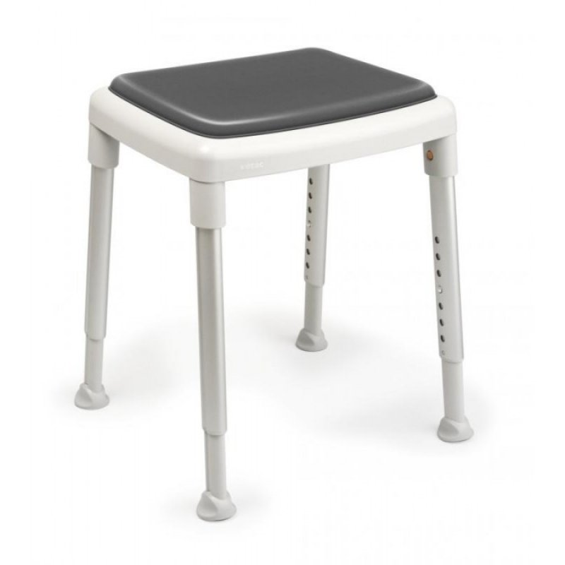 Etac Smart shower stool (grey) with swivel pad
